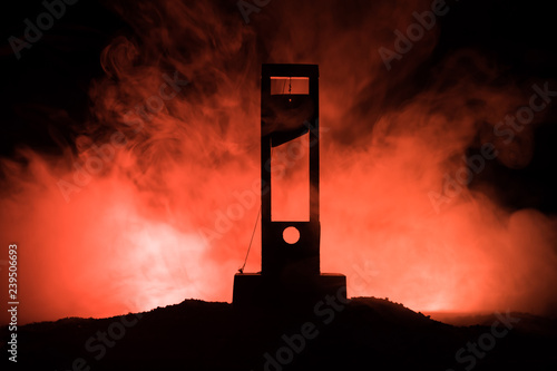 Photo Horror view of Guillotine