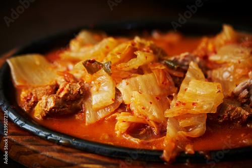 Korean spicy pork and kimchi