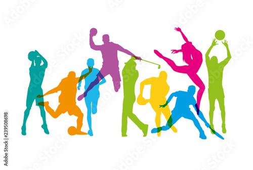 Activités sportives Canvas Print