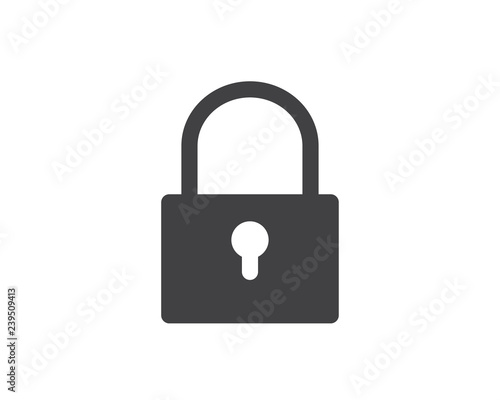 locked glyph solid icon illustration vector,locked icon illustration Wall mural