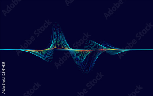 abstract digital colourful equalizer, sound wave pattern element Canvas Print