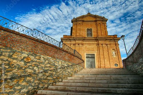 Fotografie, Obraz  Valle San Bartolomeo (AL) - La chiesa