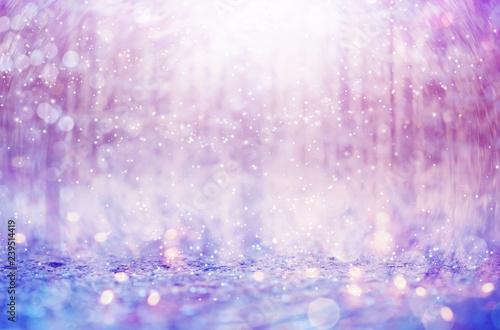 Obrazy fioletowe  piekne-platki-sniegu-na-abstrakcyjnym-blyszczacym-jasnym-tle