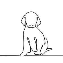 Dog Drawing Vector Using Conti...