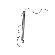 Cello One Line Drawing Vector ...