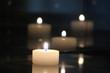 Leinwandbild Motiv Kerzen