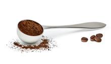 Grinded Coffee Powder In Measu...