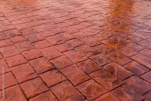 Stickers pour porte Brique Stamp concrete texture pattern and background.