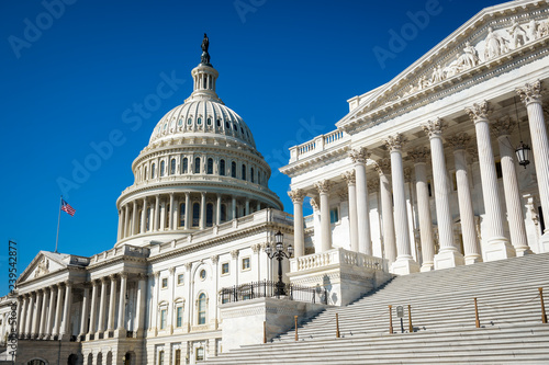 Bright morning view of the traditional neoclassical architecture of the Capitol Fototapeta