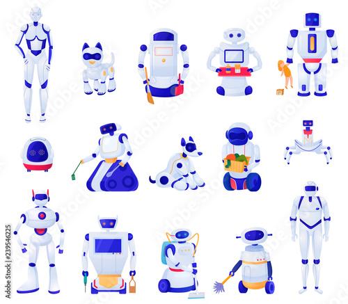 Fotografia, Obraz  Artificial Intelligence Machines Set