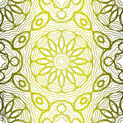 Fashion Design Print With Seamless Floral Pattern Vector
