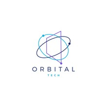 Orbital Tech Logo Vector Icon Illustration