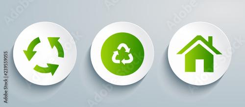 Fototapeta  Recycling icon set