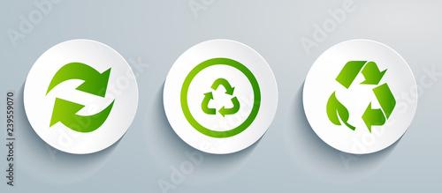 Fotografie, Obraz Recycling icon set