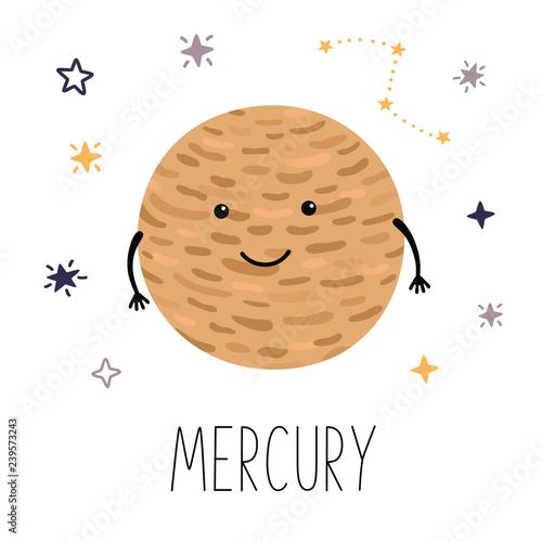 Foto Cute planet Mercury