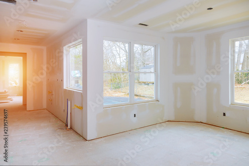 Construction building industry new home construction Building construction gypsu Canvas-taulu