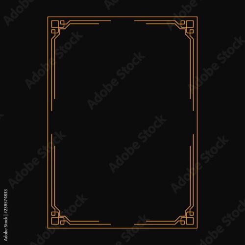 vector image,on black background, decorative