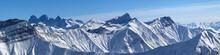 Large Panorama Of Snowy Mounta...