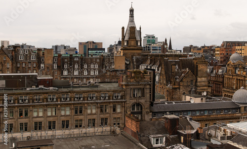 Historic rooftops of Glasgow city centre