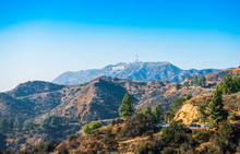 Hollywood Sign. World Famous Landmark And In Los Angeles, California.