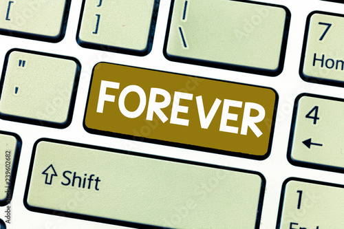 Fotografie, Obraz  Word writing text Forever