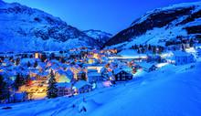 Andermatt Village In Alps Moun...