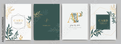 Fotografija Wedding Invitation, floral invite thank you, rsvp modern card Design in Flower w