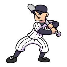 Cartoon Baseball Player