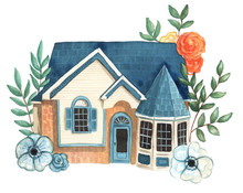 Watercolor House Illustration ...