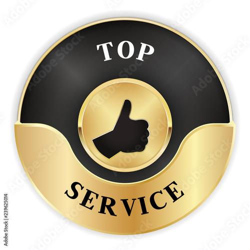 Fotografia, Obraz  Gütesiegel für Top Service