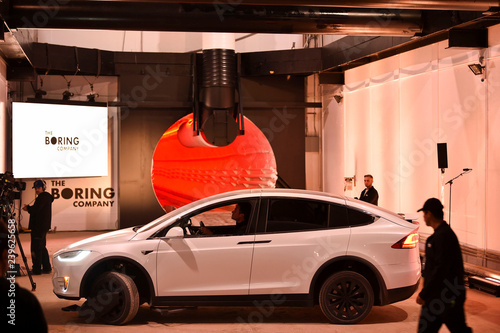 The Boring Company unveils the first test tunnel of their