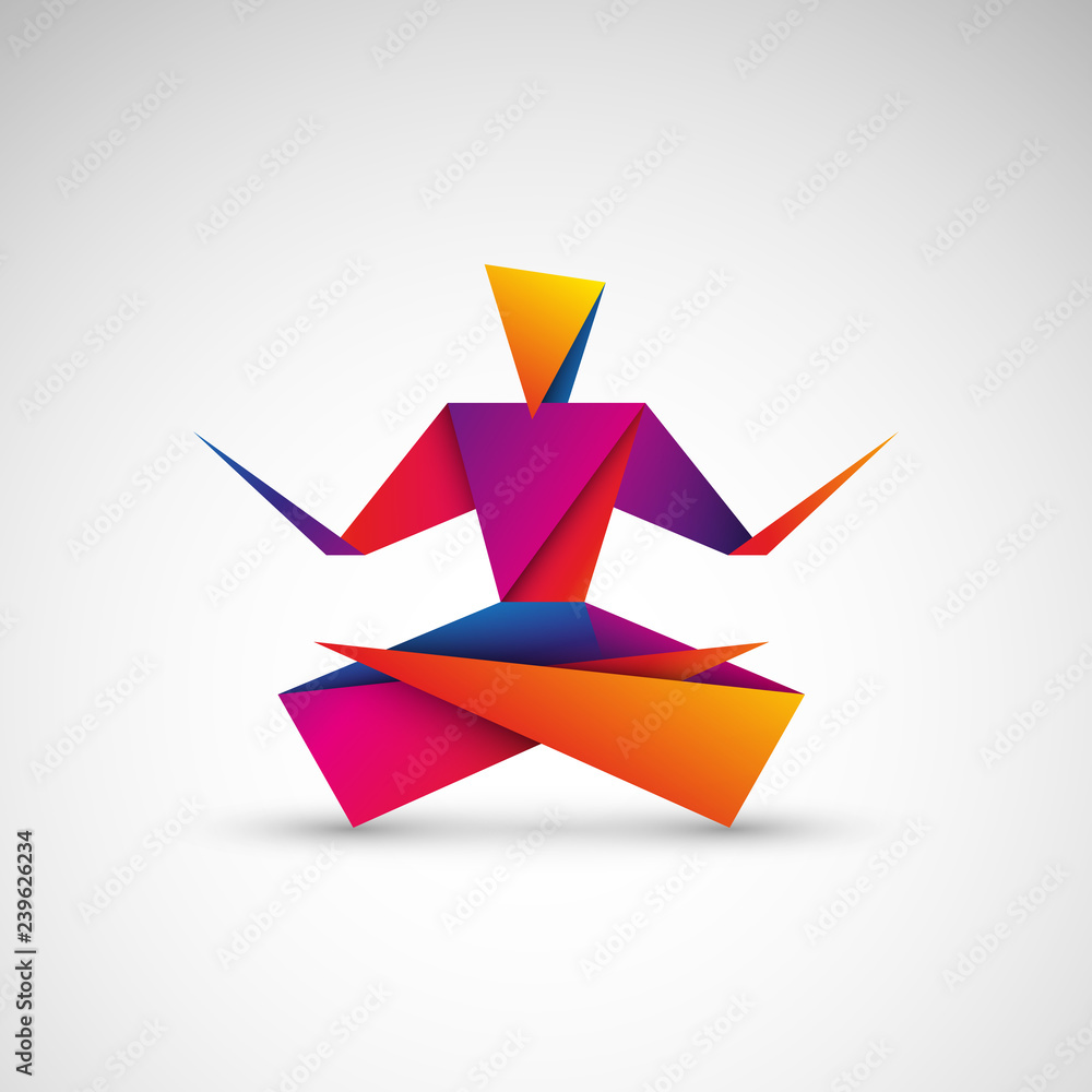 Fototapeta joga origami logo wektor
