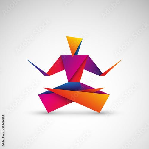 Fototapeta joga origami logo wektor obraz