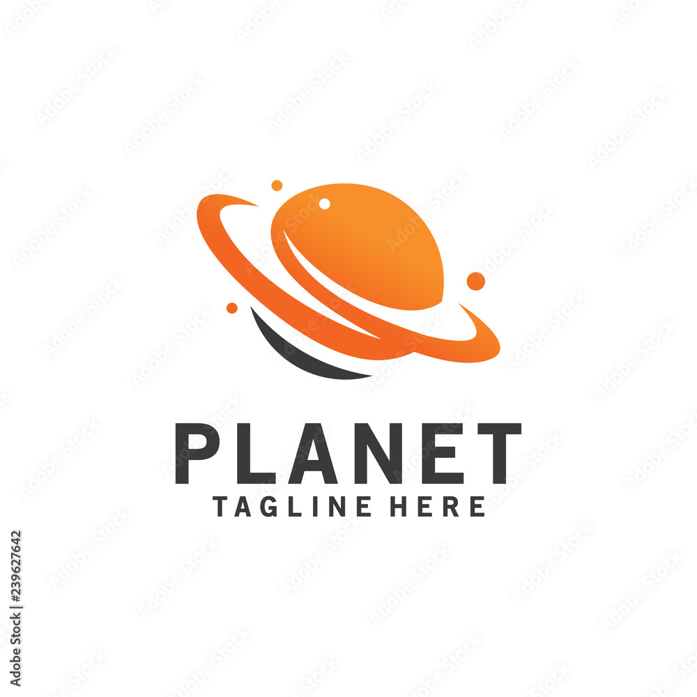 Fototapety, obrazy: planet logo concept