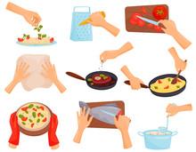 Hands Preparing Food, Process ...