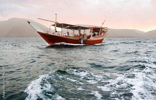 Fényképezés  Muscat, Oman, tour on a traditional Arabian Dhow