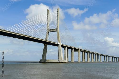 Fotomural vasco da gama bridge in lisbon portugal, in Lisbon Capital City of Portugal