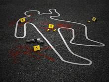 Crime Scene Of A Murder Case. ...