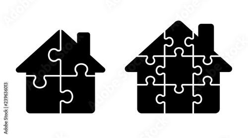 Fotografie, Obraz  Puzzle House