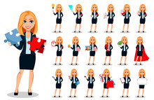 Business Woman In Office Style...
