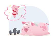 Lazy Sleeping Dieted Pig Dream...