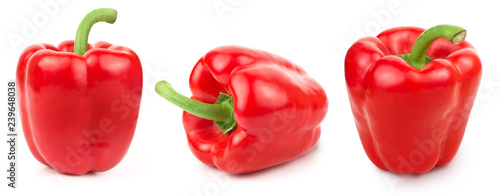 Papel de parede Pepper Isolated on white