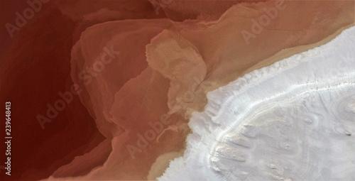 abstrakcyjna fotografia pustyni Afryki z powietrza, widok z lotu ptaka, abstrakcyjny ekspresjonizm, współczesna sztuka fotograficzna, abstrakcyjny naturalizm,