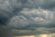 Dark gray clouds before the rain. The formidable beauty of natural phenomena