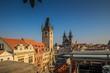 Der überwältigende Ausblick auf alle Seiten von der Dachterrasse des Familienhotels U Prince auf dem Altstädter Ring in Prag.