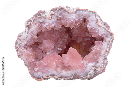 Rare Pink Amethyst Geode Cluster from Patagonia, Argentina Canvas Print