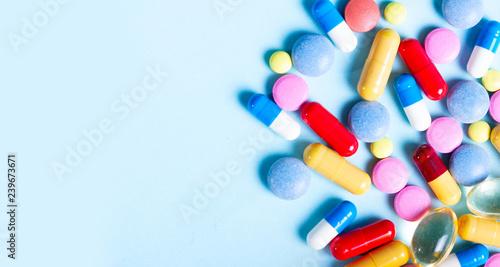 Fotografia  Pile of pills