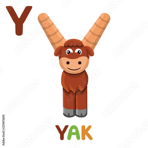 Y Is For Yak Letter Y Yak Cute Illustration Animal Alphabet Buy This Stock Vector And Explore Similar Vectors At Adobe Stock Adobe Stock