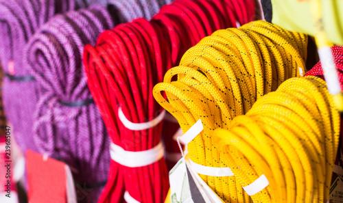 Fotografiet  climbing ropes for climbing