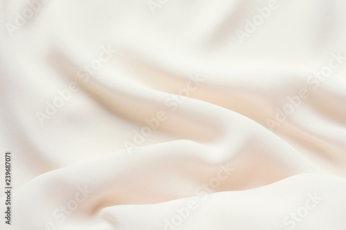 Fotomural  Matte cream delicate soft pleated fabric background